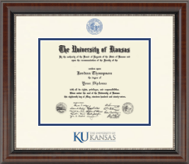 The University of Kansas Diploma Frame - Dimensions Diploma Frame in Chateau