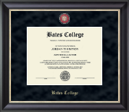 Bates College Diploma Frame - Regal Edition Diploma Frame in Noir