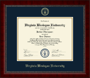 Virginia Wesleyan University Diploma Frame - Gold Embossed Diploma Frame in Sutton