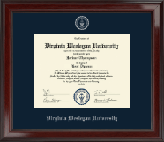 Virginia Wesleyan University Diploma Frame - Silver Embossed Diploma Frame in Encore
