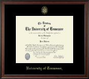 The University of Tennessee Knoxville Diploma Frame - Gold Embossed Diploma Frame in Studio