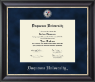 Duquesne University Diploma Frame - Regal Edition Diploma Frame in Midnight
