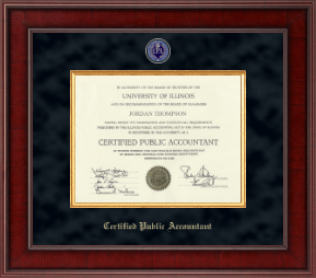 Certified Public Accountant Certificate Frame - Presidential Masterpiece Certificate Frame in Jefferson