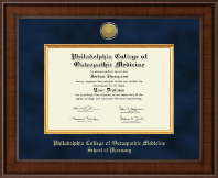 Philadelphia College of Osteopathic Medicine Diploma Frame - Presidential Gold Engraved Diploma Frame in Madison