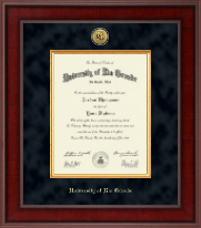 University of Rio Grande Diploma Frame - Presidential Gold Engraved Diploma Frame in Jefferson