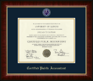 Certified Public Accountant Diploma Frame - Masterpiece Medallion Certificate Frame in Murano