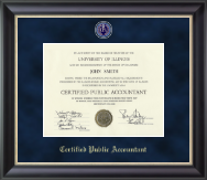 Certified Public Accountant Certificate Frame - Regal Edition Certificate Frame in Noir