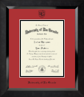 University of Rio Grande Diploma Frame - Black Embossed Diploma Frame in Eclipse