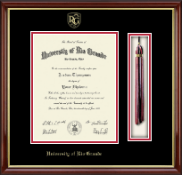 University of Rio Grande Diploma Frame - Tassel Edition Diploma Frame in Southport Gold