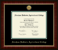 Abraham Baldwin Agricultural College Diploma Frame - Gold Engraved Medallion Diploma Frame in Murano