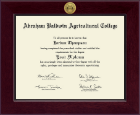 Abraham Baldwin Agricultural College Diploma Frame - Century Gold Engraved Diploma Frame in Cordova