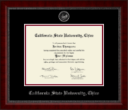 California State University Chico Diploma Frame - Silver Embossed Diploma Frame in Sutton