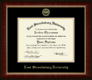 East Stroudsburg University Diploma Frame - Gold Embossed Diploma Frame in Murano