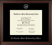 California State University Chico Diploma Frame - Silver Embossed Diploma Frame in Studio