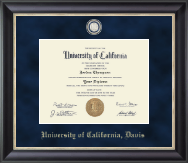 University of California Davis Diploma Frame - Regal Edition Diploma Frame in Noir