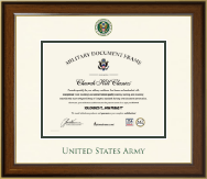 United States Army Certificate Frame - Dimensions Certificate Frame in Lancaster