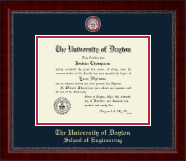 University of Dayton Diploma Frame - Masterpiece Medallion Diploma Frame in Sutton