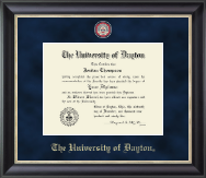 University of Dayton Diploma Frame - Regal Edition Diploma Frame in Noir