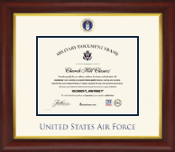 United States Air Force Certificate Frame - Dimensions Certificate Frame in Prescott