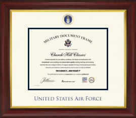 United States Air Force Certificate Frame - Dimensions Certificate Frame in Redding