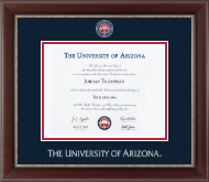 The University of Arizona Diploma Frame - Masterpiece Medallion Diploma Frame in Chateau