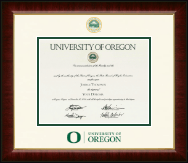 University of Oregon Diploma Frame - Dimensions Diploma Frame in Murano