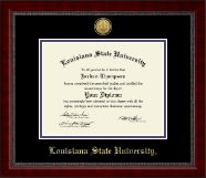 Louisiana State University Diploma Frame - Gold Engraved Medallion Diploma Frame in Sutton