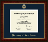 University of Saint Joseph in Connecticut Diploma Frame - Masterpiece Medallion Diploma Frame in Murano