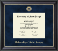 University of Saint Joseph in Connecticut Diploma Frame - Regal Edition Diploma Frame in Noir