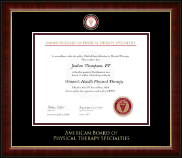 American Board of Physical Therapy Specialties Certificate Frame - Masterpiece Medallion Certificate Frame in Murano