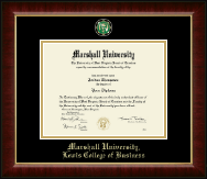 Marshall University Diploma Frame - Masterpiece Medallion Diploma Frame in Murano