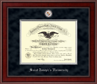 Saint Joseph's University in Pennsylvania Diploma Frame - Presidential Masterpiece Diploma Frame in Jefferson