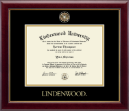 Lindenwood University Diploma Frame - Masterpiece Medallion Diploma Frame in Gallery