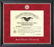 Saint Joseph's University in Pennsylvania Diploma Frame - Regal Edition Diploma Frame in Noir