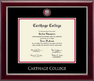Carthage College Diploma Frame - Masterpiece Medallion Diploma Frame in Gallery Silver