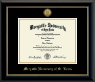 Maryville University of St. Louis Diploma Frame - Gold Engraved Medallion Diploma Frame in Onyx Gold