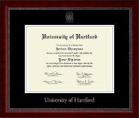 University of Hartford Diploma Frame - Silver Embossed Diploma Frame in Sutton