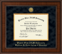 Prairie View A&M University Diploma Frame - Presidential Gold Engraved Diploma Frame in Madison