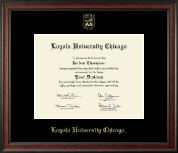 Loyola University Chicago Diploma Frame - Gold Embossed Diploma Frame in Studio