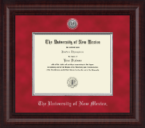 The University of New Mexico Diploma Frame - Presidential Silver Engraved Diploma Frame in Premier