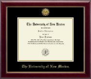 The University of New Mexico Diploma Frame - Gold Engraved Medallion Diploma Frame in Gallery