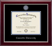 Concordia University Portland Diploma Frame - Masterpiece Medallion Diploma Frame in Gallery Silver