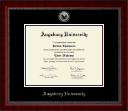 Augsburg University Diploma Frame - Silver Engraved Medallion Diploma Frame in Sutton