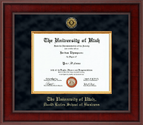 The University of Utah Diploma Frame - Presidential Gold Engraved Diploma Frame in Jefferson