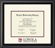 Loyola University Chicago Diploma Frame - Dimensions Diploma Frame in Midnight