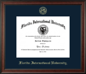 Florida International University Diploma Frame - Gold Embossed Diploma Frame in Studio