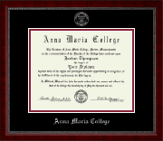 Anna Maria College Diploma Frame - Silver Embossed Diploma Frame in Sutton