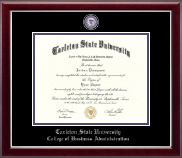 Tarleton State University Diploma Frame - Masterpiece Medallion Diploma Frame in Gallery Silver