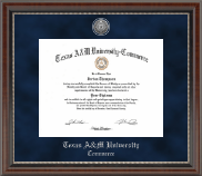 Texas A&M University - Commerce Diploma Frame - Silver Engraved Medallion Diploma Frame in Chateau