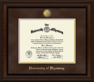 University of Wyoming Diploma Frame - 23K Medallion Diploma Frame in Lenox